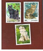 FRANCIA (FRANCE) - SG 3619.3621  - 1999  DOMESTIC ANIMALS   -   USED - Francia