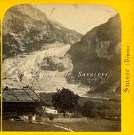 Suisse Oberland Bernois - Glacier De Grindelwald Vers 1868 - Photo Stéréoscopique H. Jouvin - Photos Stéréoscopiques