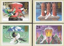 INGHILTERRA - CHRISTMAS 1983 - 5 CARTOLINE - EDIZ. THE HOUSE OF QUESTA - NUOVE - Francobolli (rappresentazioni)