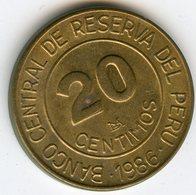 Pérou Peru 20 Centimos 1986 KM 294 - Pérou
