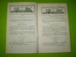 Lois An VIII: Fonctions Du Préfet De Police: Passeport, Police Des Prisons,librairie,théâtre,cultes,poudres Et Salpêtres - Décrets & Lois