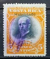 1911 COSTA RICA Mauro Fernandez Overprint HABILITADO 1911 - Costa Rica