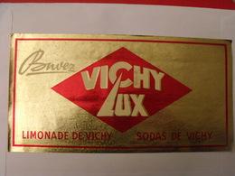 Grand Autocollant Buvez Vichy-Lux; Limonade Sodas. Vers 1950-60. - Autocollants