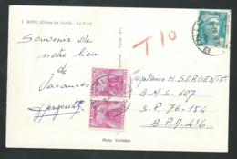 Cpsm - Binic - Le Port -  Taxée TYPE Gerbes Yvert N° 85 X 2 Oblitéré Poste Aux Armées / 416  En 1950   Lx1203 - Postmark Collection (Covers)