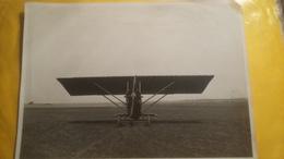 Rare Et Ancienne Photo D'un Avion A Identifier ; Format :6,5 X 23 Cm ., ( Manque Un Petit Bout Du Coin Droit En Haut ) - Aviation
