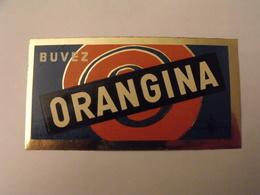 Autocollant Publicitaire Buvez Orangina. Marcel Jost Strasbourg Vers 1950-60. - Autocollants
