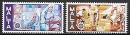MALTE    -   1976 .   Y&T N° 527 / 528 ** .   EUROPA.   Dentelle  /  Sculpture.    Série Complète - Malta