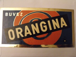 Grand Autocollant Publicitaire Buvez Orangina. Marcel Jost Strasbourg Vers 1950-60. - Autocollants