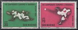 San Marino 1964 Bf. 690-691 Campionato Europeo BaseBall Full Set MNH - Baseball