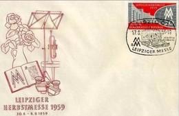 DDR - 17 8 1959 FDC LEIPZIGER HERBSTMESSE - [6] Repubblica Democratica