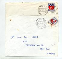 Lettre Flamme Muette Poste Aux Armees - Postmark Collection (Covers)