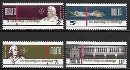 MALTE    -   1976 .   Y&T N° 529 à  533 ** .   Ecole D' Anatomie Et De Chirurgie.    Série Complète - Malta