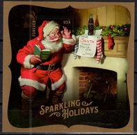 USA, 2018, MNH, CHRISTMAS, SANTA CLAUS, DRINKS, COCA COLA, S/SHEET - Christmas