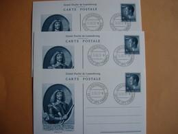 Luxembourg. 3 Cartes éditées Par La Poste Luxembourgoise.le 15.10.1980 - Entiers Postaux