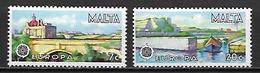 MALTE    -   1977 .   Y&T N° 549 / 550 **.   EUROPA.     Série Complète - Malte