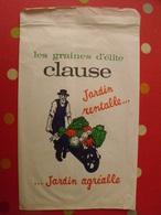 Sac En Papier Les Graines D'élite Clause. Jardin Rentable, Agréable. Vers 1950-60. - Publicité