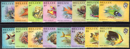 Belize 1984-88 Marine Life From The Belize Coral Reef Unmounted Mint. - Belize (1973-...)