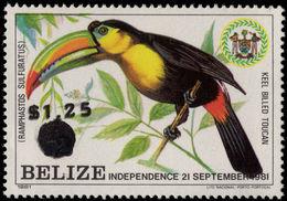 Belize 1983 Keel-billed Toucan Provisional Unmounted Mint. - Belize (1973-...)