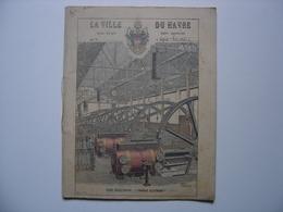1897 Ancien Cahier D' ECOLIER Ville Du Havre TRAMWAYS Usine Electricite XIXe Siecle MANUSCRIPT - Manuscrits