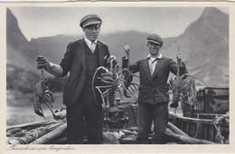 CHILI Archipel Juan Fernandez -  CHILE  Archipiélago De Juan Fernández 1935  Pêcheurs De Langoustes - Chile