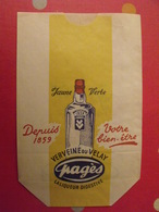 Sac En Papier Verveine Du Velay Pagès, La Liqueur Digestive. Sacs Ghesquières Lille. Vers 1950-60. - Publicité