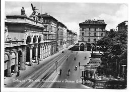 Bologna. Via Dell'Indipendenza E Piazza Garibaldi. Tabella Birra Pedavena A Destra Sull'ultima Recinzione. - Bologna