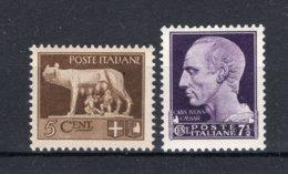 ITALIE Yt. 224/225 MH* 1929-1930 - 1900-44 Victor Emmanuel III