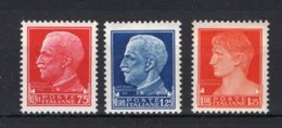 ITALIE Yt. 233/235 MH* 1929-1930 - 1900-44 Victor Emmanuel III