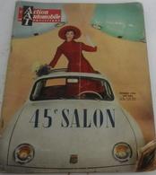 Action Automobile Octobre 1958 Salon Auto Frégate Dauphine Floride Aronde Ariane Vedette Rush Matic DS Facel Vega - Auto
