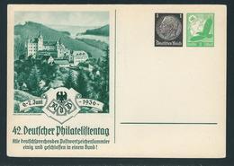 Privatpostkarte MiNr. PP 145 C 1 6.-7.1936 42. Deutscher Philatelistentag, Ungebraucht, 1Pf. Hindenburg + 5Pf. Luftpost - Ganzsachen