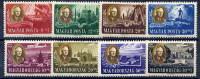 HUNGARY 1947 Roosevelt Set Of 8 MNH / **   Michel 985-92 - Hungary