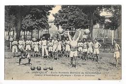 JOINVILLE Le PONT  (cpa 94)  Ecole Normale Militaire -  Centre D'instruction Physique - Poids Et Haltères    -  L 1 - Joinville Le Pont
