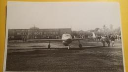 Rare Et Ancienne Photo D'un Avion A Breuil ( Hotel Du Mont Mounier ) - Aviation