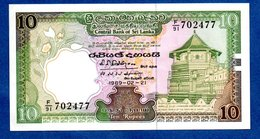 Sri Lanka    -- 10 Rupees 1982   --    Pick # 92 -  état  SUP - Sri Lanka