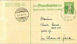 Schweiz Suisse 1909: Postkarte Carte Postale De Tavannes Avec O AMBULANT 9.IX.09 NO+2 Pour CHAUX DE FONDS - Stamped Stationery