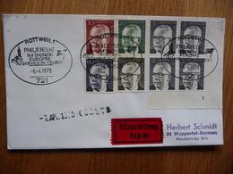 (S) DEUTSCHE BUNDESPOST DUITSLAND EXPRES COVER 1973 SONDERSTEMPEL MIXED FRANKING - Lettres & Documents