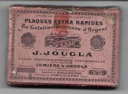Ancienne Boîte Plaques Extra Rapides J. Jougla, Joinville-le-Pont. Union Photographique. (Pour Plaques En Verre) - Matériel & Accessoires