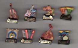Série Quasi-complète 8/9 Fèves Brillantes Filets OR - EN MUSIQUE 2010 Instruments De Musique - Fèves