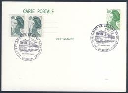 France Rep. Française 1988 Card / Karte / Carte - Electrfication Ligne Paris - Nevers / Elektrifizierung - Treinen