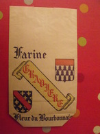 Sac En Papier Farine Moulin De Gravière. Varennes Sur Allier. Fleur Du Bourbonnais. Vers 1950-60. - Publicité
