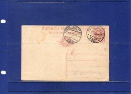 ##(ANTOC1)-1918-Cartolina Postale Cent.10 Mill.18 Soprastampata Venezia Giulia, Annullo Posta Militare 130 Per Modena - 8. WW I Occupation