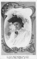 CPA Fantaisie - Femme - Portrait - Chapeau - Femmes