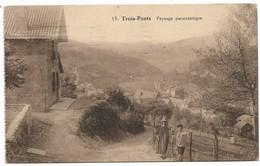 CPA PK  TROIS PONTS  PAYSAGE PANORAMIQUE  CARTE ANIMEE - Belgique
