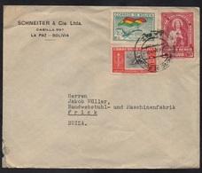 BOLIVIE - BOLIVIA - LA PAZ / 1952 LETTRE POUR LA SUISSE (ref 7953) - Bolivie