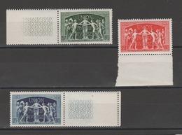 FRANCE / 1949 / Y&T N° 850/852 ** : UPU (3 TP BdF - Gomme D'origine Intacte - France