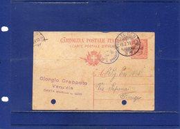 ##(ANTOC1)-1919-Cart. Postale Cent.10 Mill.18 Soprastampata 10 Centesimi Di Corona Da Trieste Per Firenze Bollo Censura - 8. WW I Occupation