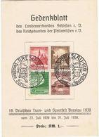 Gedenkblatt Zum 16 Turnfest Breslau 1938 Des Landesverband Schlesien - Germania