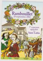 813 -78 - RAMBOUILLET 28 SEPTEMBRE 2012. 7ème CONCOURS AGRICOLES DE LA SAINT LUBIN . SCANS RECTO VERSO - Rambouillet