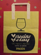 Grand Sac En Papier Infusions Pagès. Verveine Du Velay. Fournisseur Jeux Olympiques D'hiver 1968 Grenoble. - Publicité