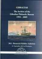 Archive Gibraltar Philatelic Bureau (Heinrich Köhler) - Catalogues For Auction Houses